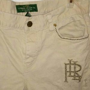 Woman Ralph Lauren beige designer jeans
